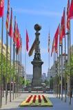 Le monument de Justiciazgo, Zaragoza, Espagne Photographie stock libre de droits