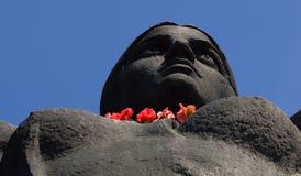 Le monument de la mère patrie appelle en colline de gloire, Cherkasy complexe commémoratif, Ukraine Photographie stock libre de droits