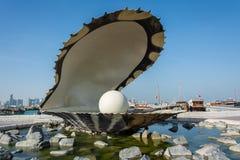 Le monument de perle dans Doha, Qatar image libre de droits