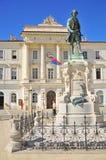 Le monument de Piran de Giuseppe Tartini Photographie stock libre de droits