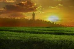 Le monument de Wallace au coucher du soleil Image stock