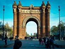 Le monument de Wonderfull en Espagne a placé à l'extrémité nord du photo stock