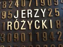 Le monument des cryptologists polonais, Poznan, Pologne photographie stock