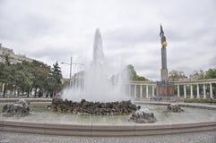 Le monument des héros de l'armée rouge à Vienne Photo libre de droits