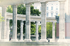 Le monument des héros de l'armée rouge à Vienne Images libres de droits