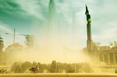 Le monument des héros de l'armée rouge à Vienne Photos libres de droits