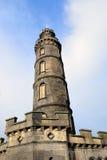 Le monument du Nelson à Edimbourg. Images stock