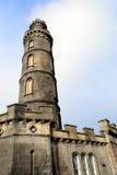 Le monument du Nelson à Edimbourg. Images libres de droits
