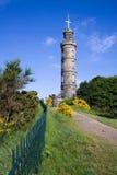 Le monument du Nelson, côte de Calton, Edimbourg Image stock