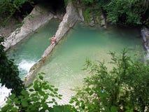 Le monument naturel - cuvette naturelle de Dagomys de piscine Images libres de droits