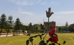 LE MONUMENT OUVERT DE MAIN, CHANDIGARH, INDE Images stock