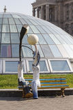 Le monument pour aimer des lanternes à l'indépendance ajustent kiev Photos libres de droits