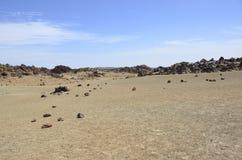 Le moonlandscape de Ténérife, EL Teide, Espagne de parc national images libres de droits