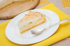 Le morceau de gâteau au fromage fait maison Photos libres de droits