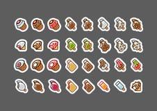 Le mordu crème pour l'ensemble 2 de jeux vidéo illustration de vecteur