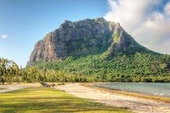 le Morne山在毛里求斯 免版税库存照片