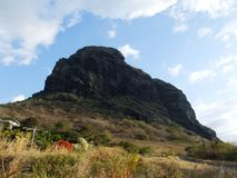 Le Morne Brabant. A nice mountain on the Morne peninsula, Mauritius Royalty Free Stock Photo