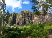Le Morne Brabant mountain on the south of Mauritius Royalty Free Stock Image
