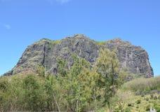 Le Morne Brabant. Rock in the Mauritian peninsula Le Morne Brabant Stock Photography