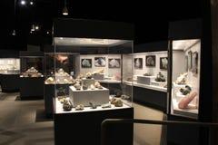 Le mostre come questi gemma e raccolta minerale possono essere vedute al museo dello stato, Albany, New York, 2016 Immagini Stock Libere da Diritti