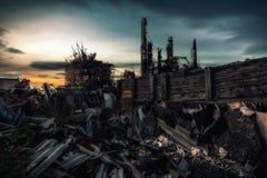 Le mot après guerre nucléaire Photos libres de droits