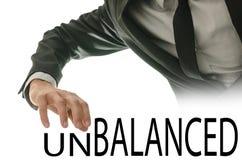 Le mot changeant déséquilibré dans le mot a équilibré image stock