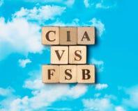 Le mot CIA contre FSB photographie stock
