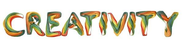 Le mot creatıvıty illustration stock