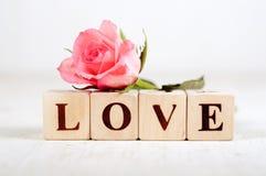 Le mot d'amour avec a monté Image libre de droits