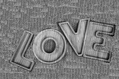Le mot de l'amour écrit dans les lettres Image libre de droits