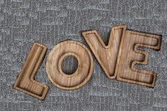 Le mot de l'amour écrit dans les lettres Photo libre de droits