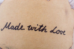 Le mot de l'amour écrit dans les lettres Photographie stock