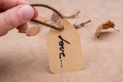 Le mot de l'amour écrit dans les lettres Images libres de droits