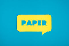 Le mot de papier sur un nuage Image stock