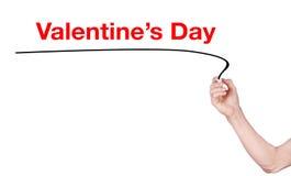 Le mot de Saint-Valentin écrivent Photographie stock