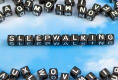 Le mot sleepwalking photographie stock libre de droits