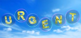 Le mot urgent dans la bulle Images libres de droits
