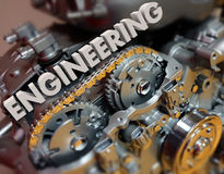 Le moteur d'ingénierie embraye la puissance concevante des véhicules à moteur Image libre de droits