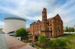 Le moulin et le panorama de Stalingrad, endroit honorable historique à Volgograd, Russie 23 février, le 9 mai Photos stock