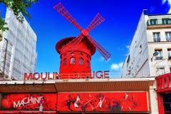 Le Moulin rouge au cours de la journée, o Photo libre de droits