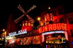 Le Moulin rouge impressionniste Photos libres de droits