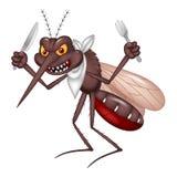 Le moustique de bande dessinée prêt pour mangent illustration de vecteur