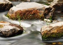 Le mouvement de l'eau d'un courant regardent en détail image stock