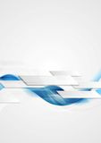 Le mouvement de pointe brillant bleu ondule le fond Image stock