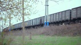 Le mouvement des trains banque de vidéos
