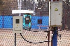 Le mètre électrique Images libres de droits
