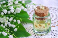 Le muguet d'huile de parfum Image libre de droits