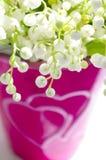 Le muguet dans un vase à coeur Images stock