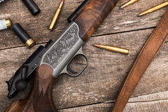 Le munizioni del cacciatore Immagine Stock