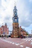 Le Munttoren ou la tour en bon état à Amsterdam en Hollande photo stock